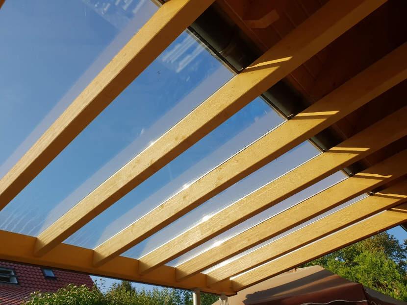 Terrassendach versiegeln